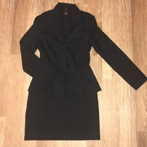 My Michelle Pinstripe Two-Piece Blazer & Skirt